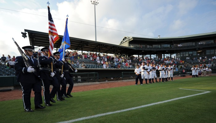 Servicemembers, families honored at RiverDogs military appreciation night